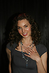 All My Children - Alicia Minshew shows off her wedding ring on November 22, 2008 at the Brokerage Comedy Club and Vaudeville Cafe in Bellmore, New York. (Photo by Sue Coflin/Max Photos).
