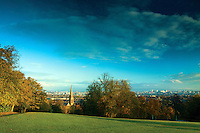 Looking across Glasgow at dawn from Queen's Park, Glasgow