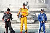 Will Power, Team Penske Chevrolet, Ryan Hunter-Reay, Andretti Autosport Honda, Ed Jones, Chip Ganassi Racing Honda, podium