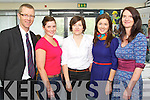 Pictured at the Launch of the Irish Academy of Hospitality and Tourism in the IT, Tralee on Friday, from left: TJ O'Connor, Anna Curtin, Sophie Price, Marie Lynch and Denise O'Leary..