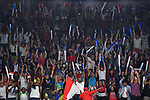 Fans (INA), <br /> AUGUST 22, 2018 - Badminton : Men's Team Final match between China - Indonesia at Gelora Bung Karno Istora during the 2018 Jakarta Palembang Asian Games in Jakarta, Indonesia. <br /> (Photo by MATSUO.K/AFLO SPORT)
