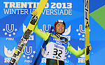 Podium of the Nordic Combined Mass Start 10 km / NH with Aguri Shimizu JAP as part of the Winter Universiade Trentino 2013 on 16/12/2013 in Predazzo, Italy.<br /> <br /> &copy; Pierre Teyssot - www.pierreteyssot.com