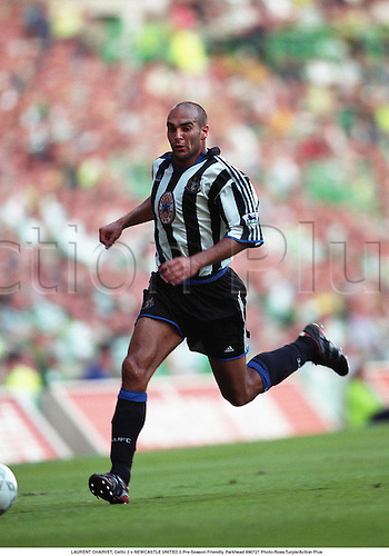 LAURENT CHARVET, Celtic 2 v NEWCASTLE UNITED 0 Pre-Season Friendly, Parkhead 990727 Photo:Ross Turpie/Action Plus...1999.Soccer.Premier League.football.association.club clubs.english.premiership