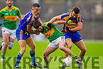 Ian Galvin South Kerry in Action against Mark Crowley and Dara Crowley Kenmare in the County Senior Football Semi Final at Fitzgerald Stadium Killarney on Sunday.