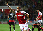 Rotherham United VS Walsall FC, New York Stadium Rotherham, Tuesday 12th September 2017 <br /> <br /> Lee Frecklington of Rotherham Celebrates scoring for the Millers. <br /> <br /> Picture - Alex Roebuck / www.alexroebuck.co.uk
