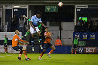 Blackpool's Armand Gnanduillet scores his sides second goal <br /> <br /> Photographer Craig Mercer/CameraSport<br /> <br /> The EFL Sky Bet League Two Play-Off Semi Final Second Leg - Luton Town v Blackpool - Thursday 18th May 2017 - Kenilworth Road - Luton<br /> <br /> World Copyright &copy; 2017 CameraSport. All rights reserved. 43 Linden Ave. Countesthorpe. Leicester. England. LE8 5PG - Tel: +44 (0) 116 277 4147 - admin@camerasport.com - www.camerasport.com