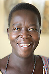 ARUA , UGANDA, JULY 4, 2006 :  Rose Atibuni, Chairwoman and only living founding member of Nacwola ((National Commite of women living with Aids) in Arua, in her office in Arua,  Uganda on July 4, 2006. Nacwola is a support group for women living with Hiv by women. They promote support, visiting aids victims and community sensitivity to fight stigma and help Aids widows who often get rejected by the defunct husband family. Rose was tested positive for HIV in 1991 when she was married with 3 children. She lost her husband to the disease in 1992 and her youngest daughter too. She is a teacher and activist and recieved an award from Action Aid International for breaking the silence in the workplace.(Photo by Jean-Marc Giboux)
