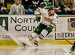 24 October 2015: University of Vermont Catamount Forward Tom Forgione, a Junior from South Burlington, VT, in second period action against the University of North Dakota at Gutterson Fieldhouse in Burlington, Vermont. North Dakota defeated the Catamounts 5-2 in the second game of their weekend series. Mandatory Credit: Ed Wolfstein Photo *** RAW (NEF) Image File Available ***