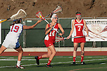 Placentia, CA 05/14/10 - Shaina Denny (Los Alamitos # 19) and Allison Field (Redondo #14) in action during the 2010 CIF Girls Lacrosse Championship game between Redondo Union and Los Alamitos, Los Alamitos defeated Redondo 24-7.