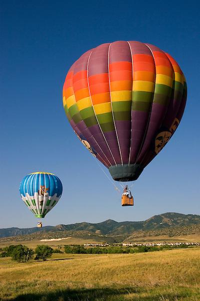 Hot air balloons, Denver, Colorado, USA