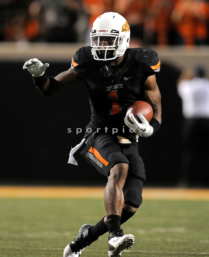 Oklahoma State Cowboys Joseph Randle (1) in action during a game against Arizona on September 8, 2011 at Boone-Pickens Stadium in Stillwater, OK. Oklahoma State beat Arizona 37-14.