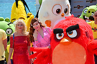 """CANNES, FRANCE. May 13, 2019: Irma Knol, Sonia Plakidyuk & Angry Bird at the photocall for """"The Angry Birds Movie 2"""" at the Festival de Cannes.<br /> Picture: Paul Smith / Featureflash"""