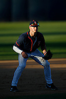 Matt Chapman #19 of the Cal State Fullerton Titans during a game against the Nebraska Cornhuskers at Goodwin Field on February 16, 2013 in Fullerton, California. Cal State Fullerton defeated Nebraska 10-5. (Larry Goren/Four Seam Images)
