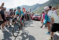 Jakob Fuglsang (DEN/Astana) up the Tourmalet (HC/2115m/19km @7.4%)<br /> <br /> Stage 14: Tarbes to Tourmalet(117km)<br /> 106th Tour de France 2019 (2.UWT)<br /> <br /> ©kramon