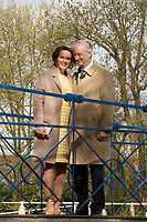King Philippe & Queen Mathilde of Belgium visit the 'Castel Wissekerke' in Kruibeke : Belgium