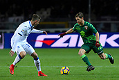 2nd December 2017, Stadio Olimpico Grande Torino, Turin, Italy; Serie A football, Torino versus Atalanta; Hans Hateboer challenges Cristian Ansaldi