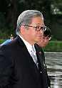 September 2, 2011, Tokyo, Japan - Shozaburo Jimi, state minister in charge of financial and postal services, arrives for an attestation ceremony before Emperor Akihito at the Imperial Palace in Tokyo on Friday, September 2, 2011. (Photo by Natsuki Sakai/AFLO) [3615] -mis-