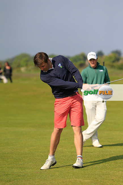 Robbie Pierse (Grange) on the 1st  during Round 1 of the East of Ireland in the Co. Louth Golf Club at Baltray on Saturday 31st May 2014.<br /> Picture:  Thos Caffrey / www.golffile.ie