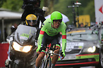 Rigoberto Uran (COL) Cannondale Drapac in action during Stage 1, a 14km individual time trial around Dusseldorf, of the 104th edition of the Tour de France 2017, Dusseldorf, Germany. 1st July 2017.<br /> Picture: Eoin Clarke | Cyclefile<br /> <br /> <br /> All photos usage must carry mandatory copyright credit (&copy; Cyclefile | Eoin Clarke)