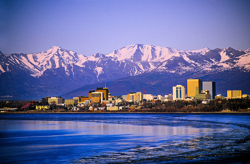 Downtown Anchorage,  Alaska USA