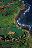Kauai Lagoons golf course at Kauai Marriott resort near Nawiliwili, Kauai.