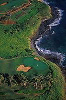 Kauai Lagoons golf course at Kauai Marriott resort near Nawiliwili, Kauai.