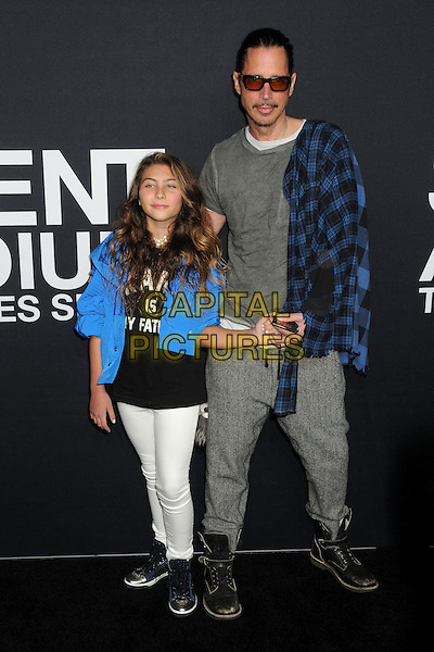 10 February 2016 - Los Angeles, California - Lily Cornell, Chris Cornell. Saint Laurent At The Palladium held at the Hollywood Palladium. <br /> CAP/ADM/BP<br /> &copy;BP/ADM/Capital Pictures