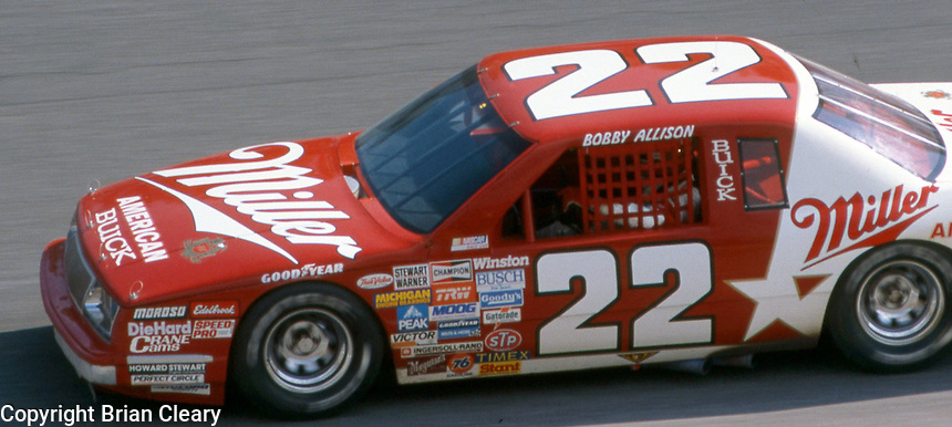 Bobby Allison (22) Buick 9th place Motorcraft 500 at Atlanta International Raceway in Hampton, GA on March 16, 1986.   (Photo by Brian Cleary/www.bcpix.com)