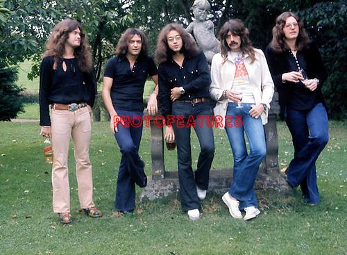 Deep Purple 1973 Glenn Hughes, Ritchie Blackmore, Ian Paice, Jon Lord, David Coverdale.© Chris Walter.
