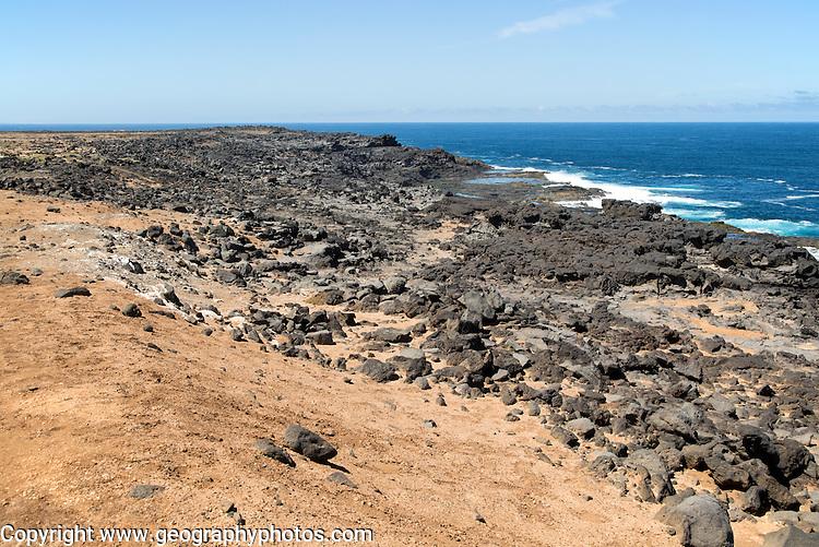 Atlantic coast at Los Charcones, Caleta Negra bay, near Playa Blanca, Lanzarote, Canary islands, Spain