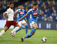 5th July 2020; Stadio San Paolo, Naples, Campania, Italy; Serie A Football, Napoli versus Roma; Fabian Ruiz of Napoli breaks forward into attack