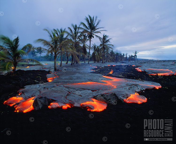"Lava flow covering beach at Kamoamoa, Big Island. Also available as a fine art print called   """" transition"