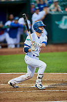 Tre Todd (11) of the Ogden Raptors bats during a game against the Grand Junction Rockies at Lindquist Field on September 7, 2018 in Ogden, Utah. The Rockies defeated the Raptors 8-5. (Stephen Smith/Four Seam Images)