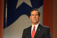 October 7, 2011  (Washington, DC)   Former U.S. Senator Rick Santorum spoke before an audience at the Values Voter Summit in Washington.  Santorum was one of several 2012 Presidential candidates to attend the Summit, which was organized by FRC Action, the non-profit legislative action arm of Family Research Council.   (Photo by Don Baxter/Media Images International)