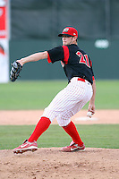 June 22nd 2008:  Pitcher Adam Reifer (21) of the Batavia Muckdogs, Class-A affiliate of the St. Louis Cardinals, during a game at Dwyer Stadium in Batavia, NY.  Photo by:  Mike Janes/Four Seam Images