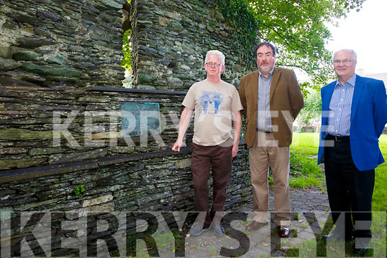 The O'Connell Heritage Trail in Cahersiveen to receive €10K in funding, pictured here l-r; Gerry Enright(Local Tour Guide), Frank Curran(ACARD) & Bill Thorne(ACARD).