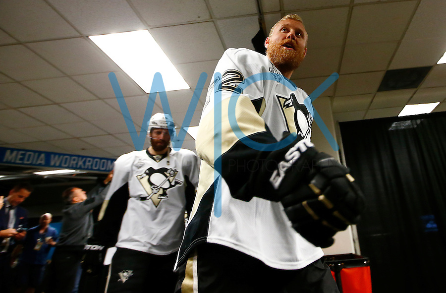 Patric Hornqvist #72 of the Pittsburgh Penguins takes the ice for warmups prior to game four of the Stanley Cup Final  against the San Jose Sharks at the SAP Center in San Jose, California on June 6, 2016. (Photo by Jared Wickerham / DKPS)