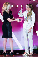 At the center, Sara Baras receive the award during the 25th edition of FEDEPE Awards at Jardines de Cecilio Rodriguez in Madrid, Spain. July 26, 2016. (ALTERPHOTOS/BorjaB.Hojas)