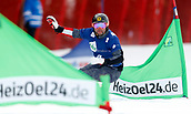 18th March 2018, Winterberg, Germany;  Snowboard World Cup, team parallel slalom. Andreas Prommegger of Austria as their team finishes in 2nd place in team parallel
