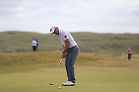 Paul Dunne (IRL) putts on the 15th green during Friday's Round 2 of the 2018 Dubai Duty Free Irish Open, held at Ballyliffin Golf Club, Ireland. 6th July 2018.<br /> Picture: Eoin Clarke | Golffile<br /> <br /> <br /> All photos usage must carry mandatory copyright credit (&copy; Golffile | Eoin Clarke)