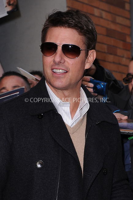 WWW.ACEPIXS.COM . . . . . .April 16, 2013...New York City....Tom Cruise leaves a taping of the Daily Show with Jon Stewart on April 16, 2013 in New York City ....Please byline: KRISTIN CALLAHAN - ACEPIXS.COM.. . . . . . ..Ace Pictures, Inc: ..tel: (212) 243 8787 or (646) 769 0430..e-mail: info@acepixs.com..web: http://www.acepixs.com .