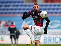 Bolton Wanderers' Mark Beevers warming up before the match  <br /> <br /> Photographer Andrew Kearns/CameraSport<br /> <br /> The EFL Sky Bet Championship - Wigan Athletic v Bolton Wanderers - Saturday 16th March 2019 - DW Stadium - Wigan<br /> <br /> World Copyright &copy; 2019 CameraSport. All rights reserved. 43 Linden Ave. Countesthorpe. Leicester. England. LE8 5PG - Tel: +44 (0) 116 277 4147 - admin@camerasport.com - www.camerasport.com