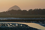 Tidal mud flats at sunset, near Baywood Park, Morro Bay, California