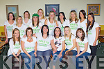 Mairead Foley Firies with her girlfriends at Kerry Airport before they flew off to Manchester for ner hen party on Friday froint row l-r: Eileen Nagle, Geraldine Brosnan, Mairead O'Sullivan, Mairead Foley, Margaret Fitzgerald, Kate Crowley. Back row: Paula Moloney, Mary Doyle, Siobhain O'Leary, Francis Henderson, Majella O'Sullivan, Susie Russell, Oliva Butler, Aine O'Shea, Sharon O'Sullivan and Danielle Favier....
