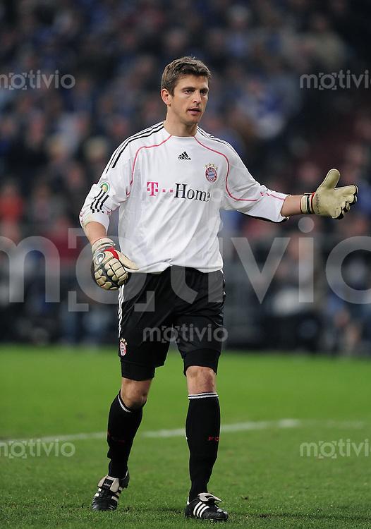 FUSSBALL   DFB POKAL   SAISON 2009/2010  HALBFINALE FC Schalke 04  - FC Bayern Muenchen                 24.03.2010 Torwart  Hans Joerg  Butt (FC Bayern)