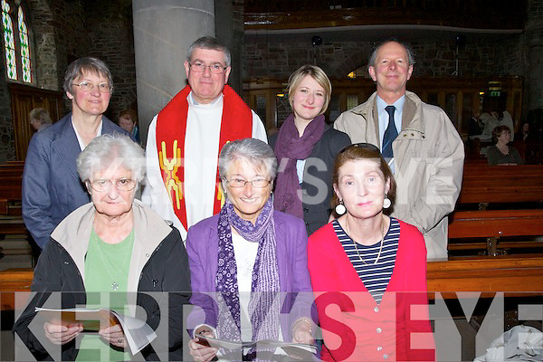 HYMS: Singing to the hyms at the Good Friday cermony's in St John's Church, Tralee, Front l-r: Roseleen O'Connell, Louise Madden and Maria Slattery. Back l-r: Ann MCKenna, Fr Sean Hanafin, Lizzy and Alastair Mac Kenzie (Tralee)..