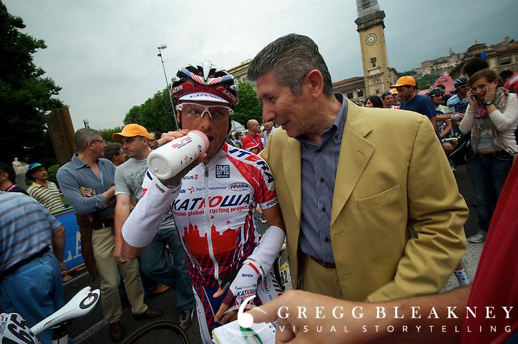 Santini with Katusha sponsored team--rider is Danilo Di Luca.