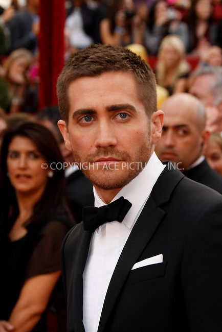 WWW.ACEPIXS.COM . . . . .  ....March 7 2010, Hollywood, CA....Actor Jake Gyllenhaal at the 82nd Annual Academy Awards held at Kodak Theatre on March 7, 2010 in Hollywood, California.....Please byline: Z10-ACE PICTURES... . . . .  ....Ace Pictures, Inc:  ..Tel: (212) 243-8787..e-mail: info@acepixs.com..web: http://www.acepixs.com