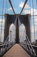 New York: Brooklyn Bridge from Manhattan Pier. Photo '78.