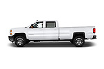 Car Driver side profile view of a 2016 Chevrolet Silverado-3500HD LT-Crew-SRW 4 Door Pickup Side View